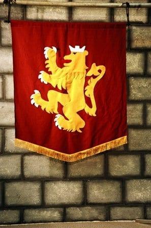 Medieval Rampant Lion Banner-6279