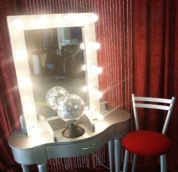 Dressing Room Mirror & Table