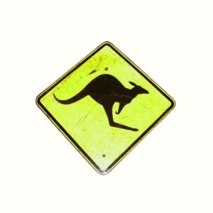 Kangaroo Road Sign-0