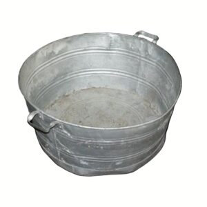 Galvanised Metal Wash Tub-0
