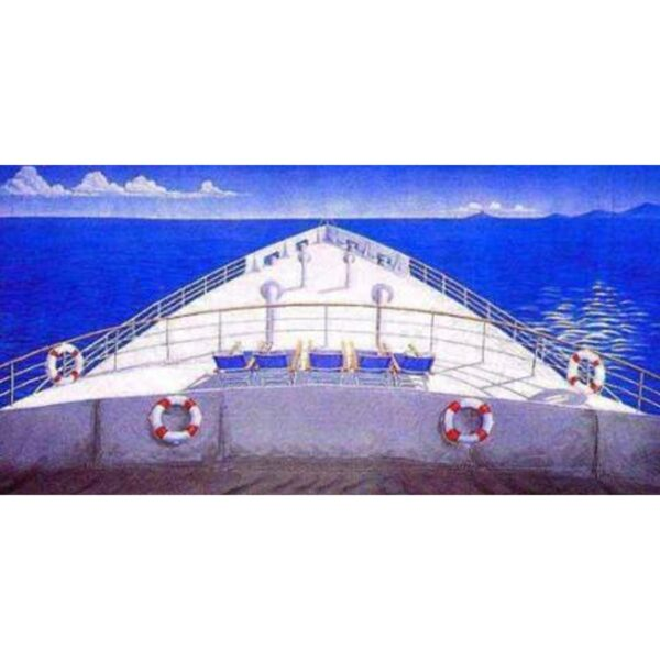 Cruise Ship Bow Painted Backdrop BD-172-6401