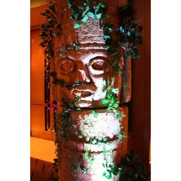 Round Carved Inca Face Statue-6341