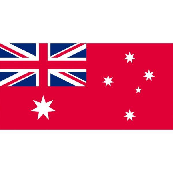 Flag Red Australian Naval
