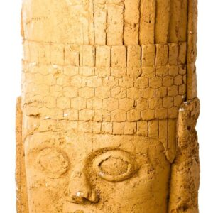 Round Carved Inca Face Statue-0