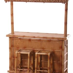 Bamboo Bar with 2 stools included - Sydney Props Specialist - Prop Hire and Event Theming
