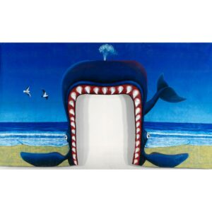 Whales Mouth Tunnel Entrance Painted Backdrop BD-0023