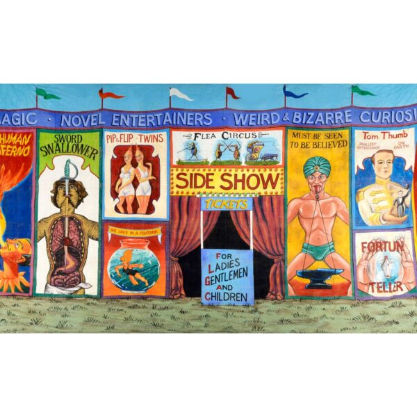 Circus Sideshow Alley Posters Painted Backdrop BD-0044