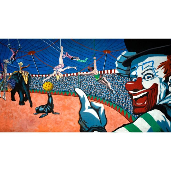 Circus Performers Under Big Top Painted Backdrop BD-0049