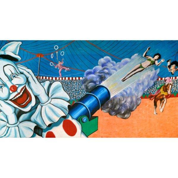 Circus Human Cannon Ball Painted Backdrop BD-0050