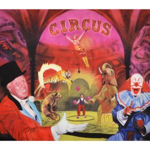 Circus Ringmaster Painted Backdrop BD-0051