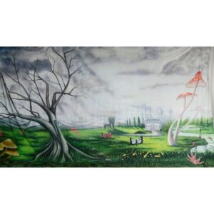 Alice in Wonderland Fantasy Landscape Painted Backdrop BD-0060