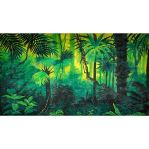 Tropical Jungle Lush Vegetation Painted Backdrop BD-0084