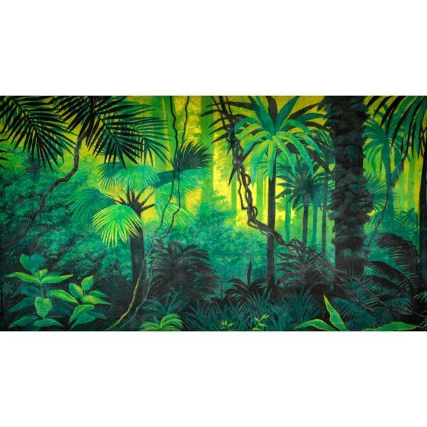 Tropical Jungle Lush Vegetation Painted Backdrop BD-0084