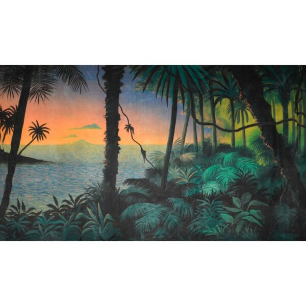 Tropical Jungle Island Paradise Painted Backdrop BD-0085