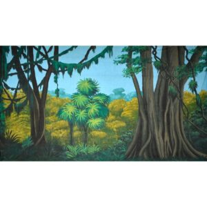 Tropical Jungle Banyans and Lianas Painted Backdrop BD-0086