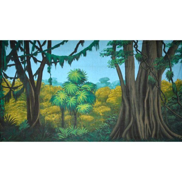 Tropical Jungle Banyans and Lianas Painted Backdrop BD-0086