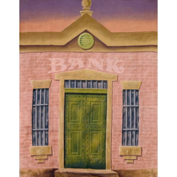 Early Australian Colonial Bank Facade Painted Backdrop BD-0103