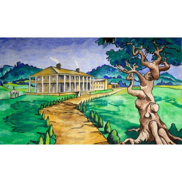 Stately Manor House Painted Backdrop BD-0122