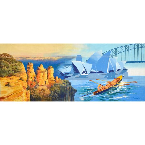 Three Sisters Sydney Montage Painted Backdrop BD-0128