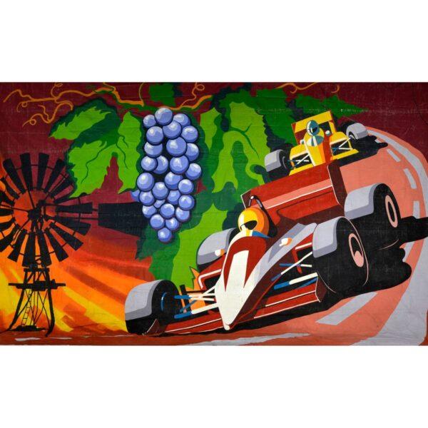 Grand Prix Montage Painted Backdrop BD-0191