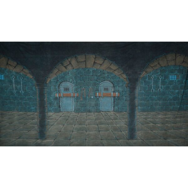 Medieval Castle Dungeons Painted Backdrop BD-0202
