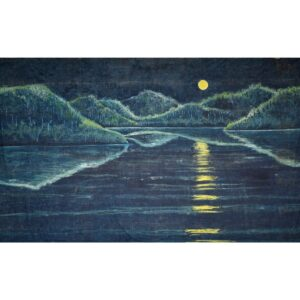 Moonlight on the Lake Painted Backdrop BD-0203
