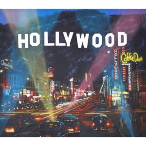 Hollywood at Night Painted Backdrop BD-0222