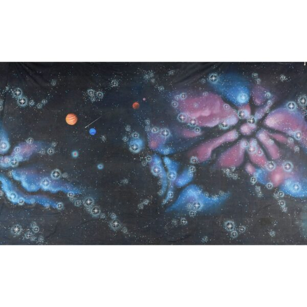 Galactic Blue And Pink Gases Painted Backdrop BD-0242