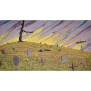 Western Boot Hill Cemetery Painted Backdrop BD-0245
