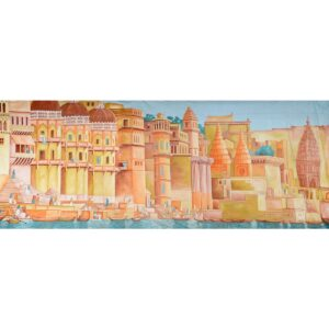 Indian City on the Ganges Painted Backdrop BD-0250