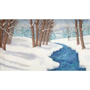 Winter Wonderland Stream Painted Backdrop BD-0264