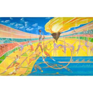 Olympic Stadium Montage Painted Backdrop BD-0310