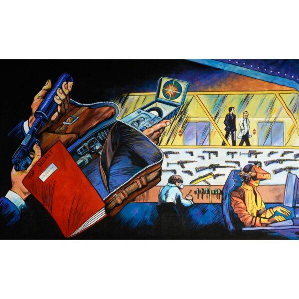 Secret Agent Gadget Lab Painted Backdrop BD-0350