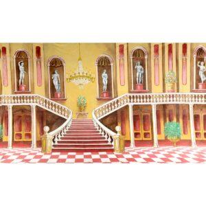 Grand Ballroom Staircase Painted Backdrop BD-0384
