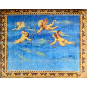 Cherubs Framed with Blue Sky Painted Backdrop BD-0385