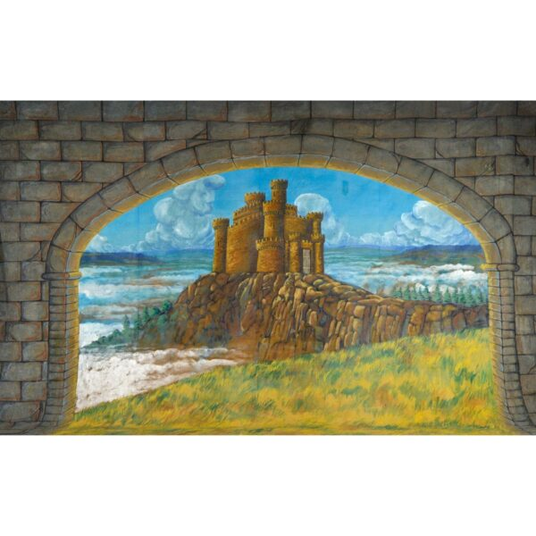 Castle on Promontory Painted Backdrop BD-0387