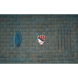Medieval Interior Castle Wall Painted Backdrop BD-0392