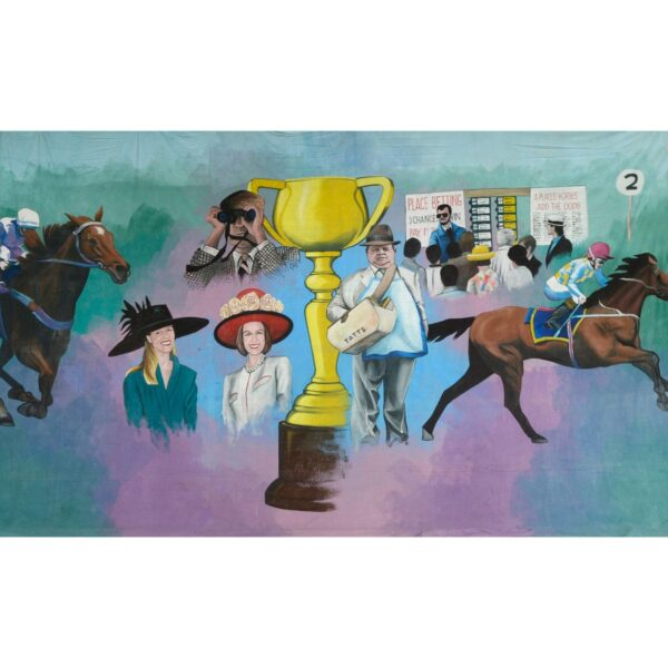 Melbourne Cup Montage Painted Backdrop BD-0420