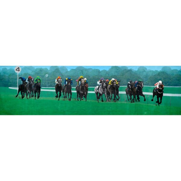 Melbourne Cup Horses Panorama Painted Backdrop BD-0422