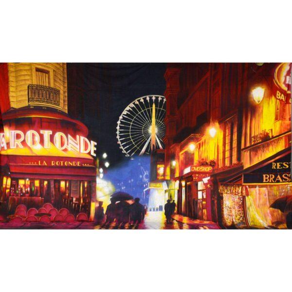 La Rotonde Paris Painted Backdrop BD-0511