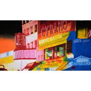 Parisian Burlesque Entrance Painted Backdrop BD-0512