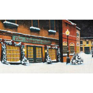 The Mistletoe Shoppe Painted Backdrop BD-0611