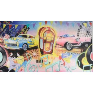 1950's Grease Montage Painted Backdrop BD-0641