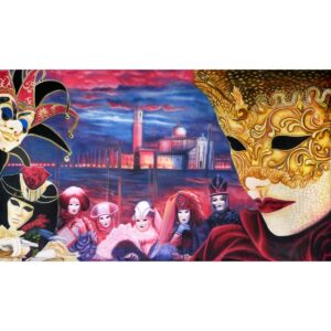 Masquerade Venice Painted Backdrop BD-0653