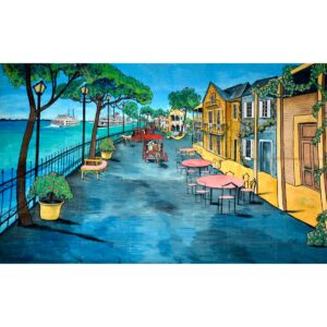 American Mississippi Riverside Painted Backdrop BD-0721
