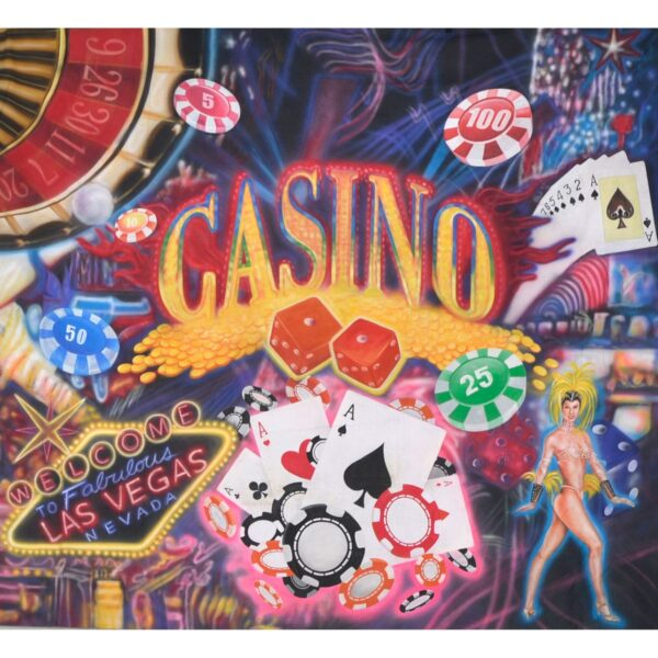 Casino Montage Painted Backdrop BD-0724