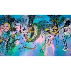 Mardi Gras Montage Rio de Janeiro Brazil Painted Backdrop BD-0742