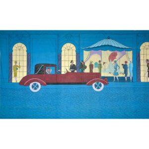 Roaring 20s Automobile Painted Backdrop BD-0761