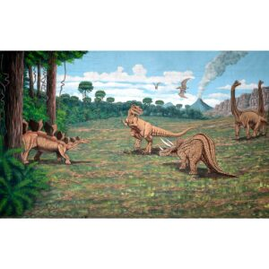 Dinosaurs On The Move Painted Backdrop BD-0800