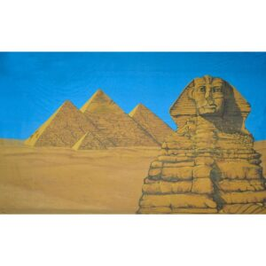 Egypt Sphinx of Giza with Pyramids Painted Backdrop BD-0950